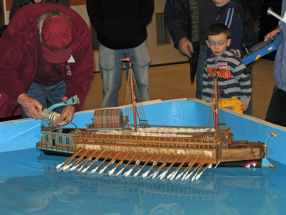 Model rowboat in 2009