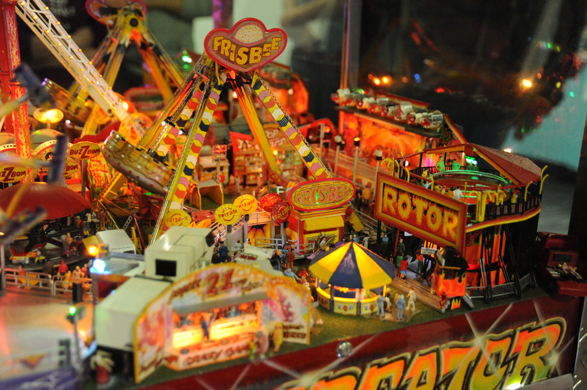 A-busy-fairground-scene-in-