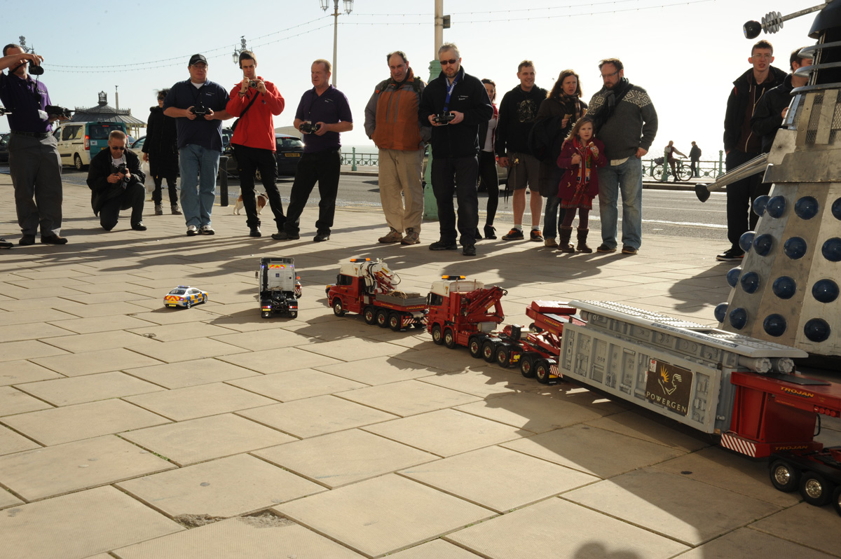 R/C Trucks take a load to the seafront