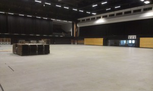 Brighton Centre hall empty